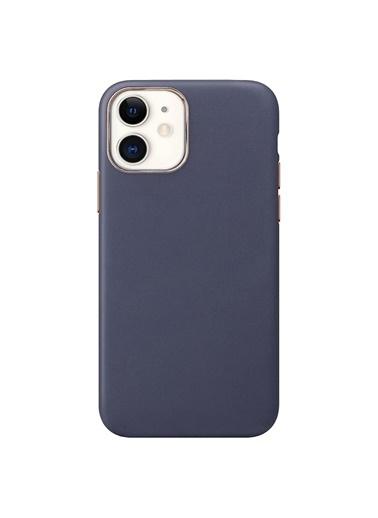 Microsonic Apple iPhone 11 Kılıf Luxury Leather Lacivert